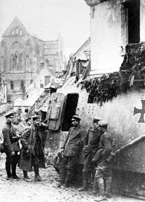 """inspiration"" ""WWI Germans with A7V Tank"""